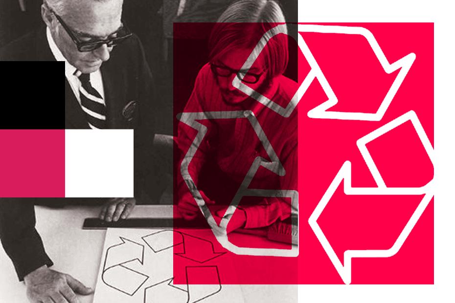 El diseñador tras el logo de reciclaje
