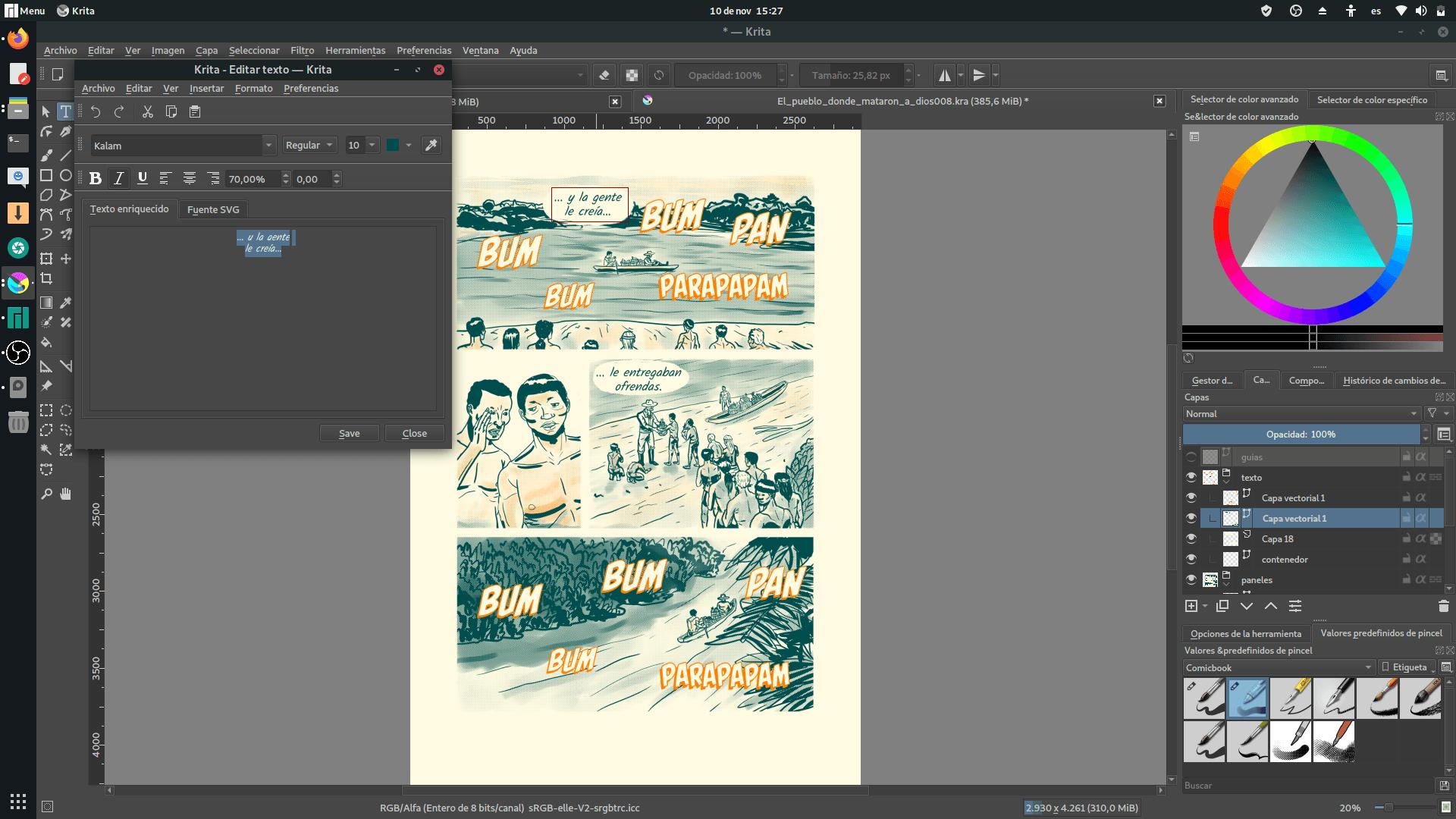 Tutorial: Como hacer cómics en Krita