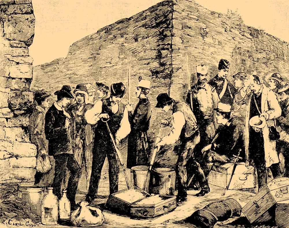 Fumigación de equipajes en Francia 1884