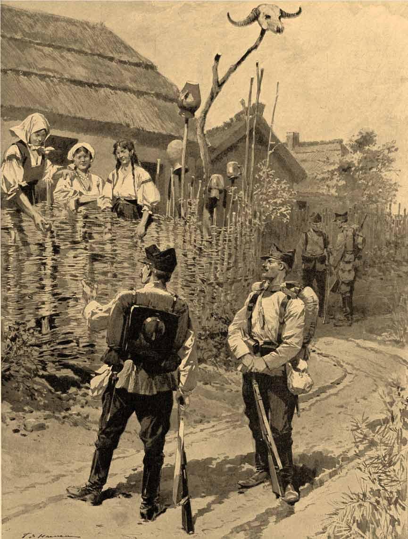 Cordón sanitario contra el cólera en un pueblo de Rumania