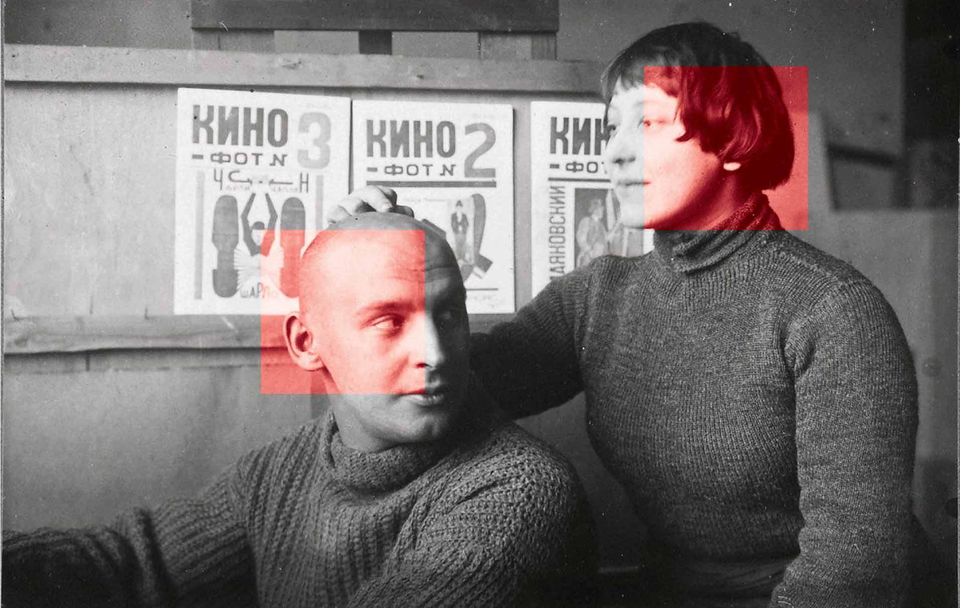Ródchenko junto a Várvara Stepanova