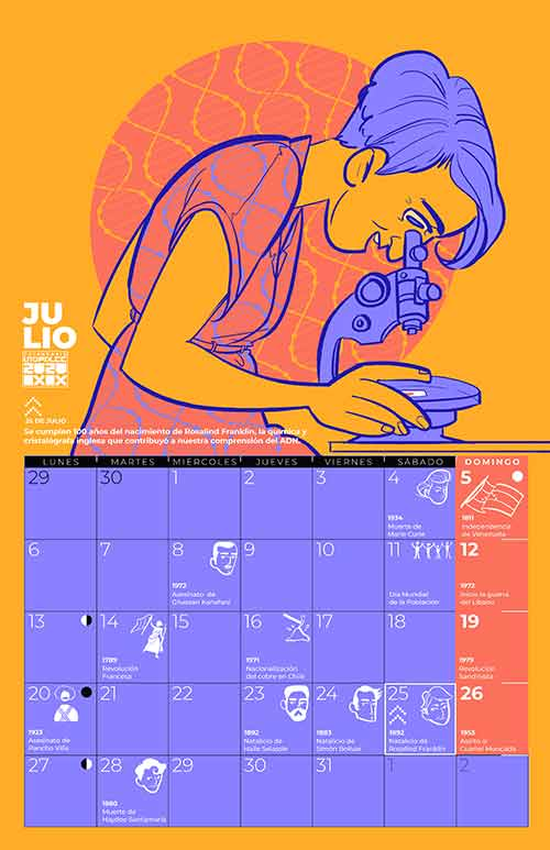 Calendario julio 2020