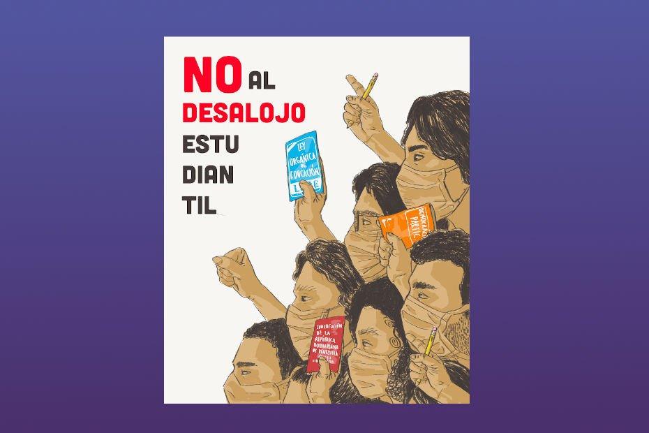 No al desalojo estudiantil