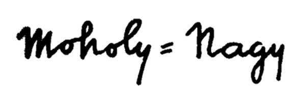La carta de renuncia de Moholy-Nagy a la Bauhaus