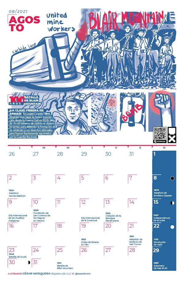 Muestra de página del Calendario Utopix 2021 de Agosto