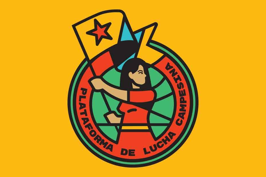 El nuevo emblema de la Plataforma de Lucha Campesina