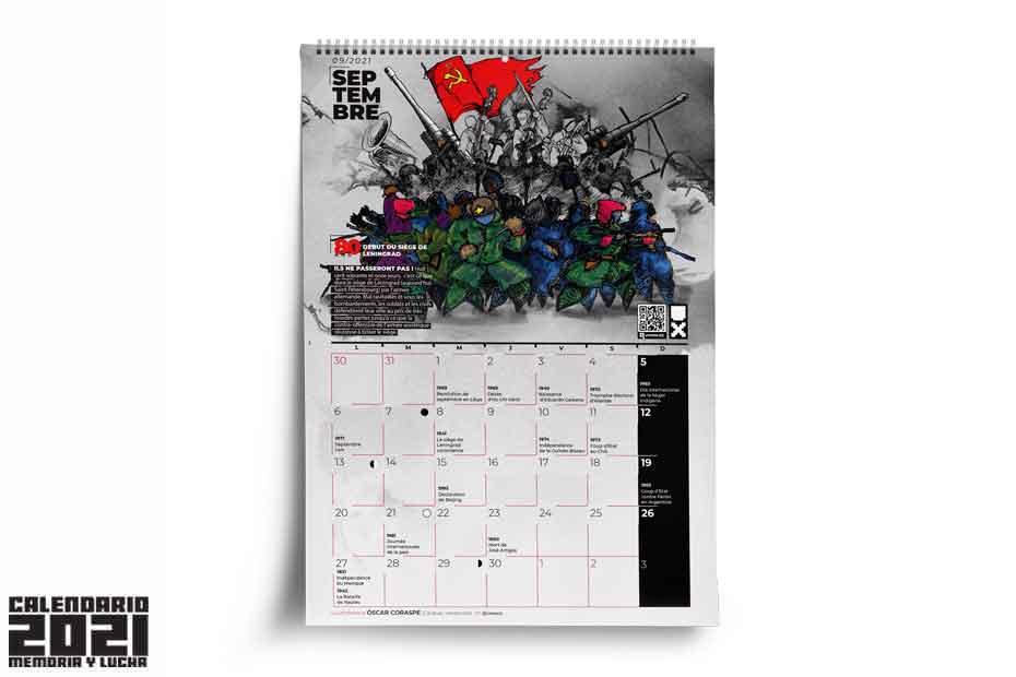 El cerco a Leningrado: Calendario septiembre 2021